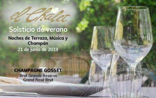 Noches de terraza, música y champagne